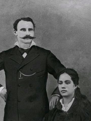 Joseph Lequéré  et  Louisa Nollemberger (vers 1877)